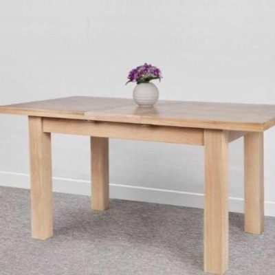 Oak Two Piece Extendable Dining Table