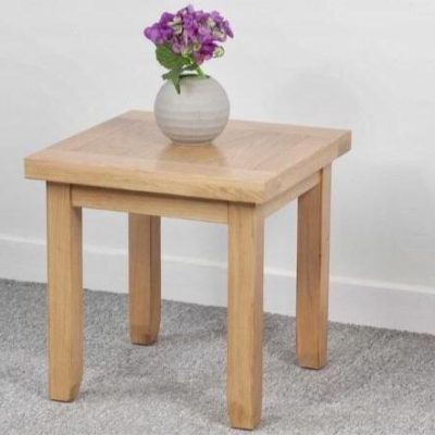 Abbie oak lamp table main