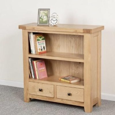 Abbie oal low wide bookcase main