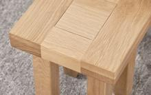 Abbie solid oak nest of tables close up small