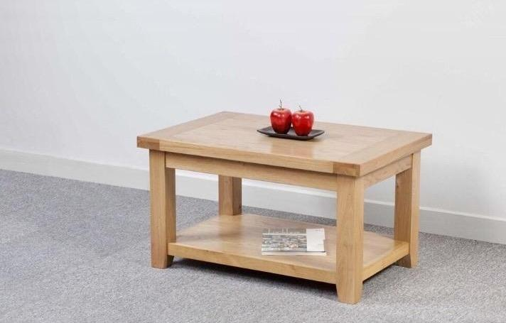 Abbie solid oak small coffee table main