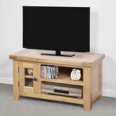 Abbie solid oak small tv unit