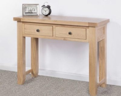 abbie 2 drawer oak console table