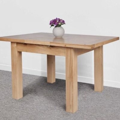 Abbie small oak extending butterfly dining table
