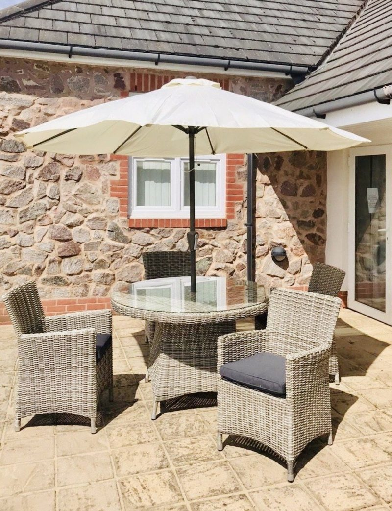 Bermuda Stone Grey Four Seater Rattan Dining Set