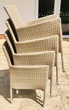 havana mixed sand four seater rattan dining chairs stacked