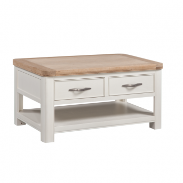 stow painted 2 drawer coffee table