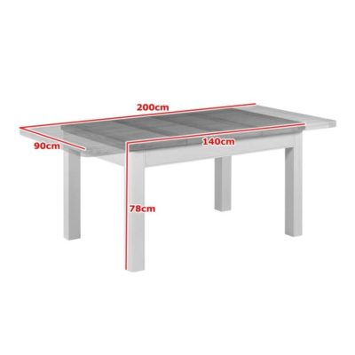 stow painted dining table dimensions