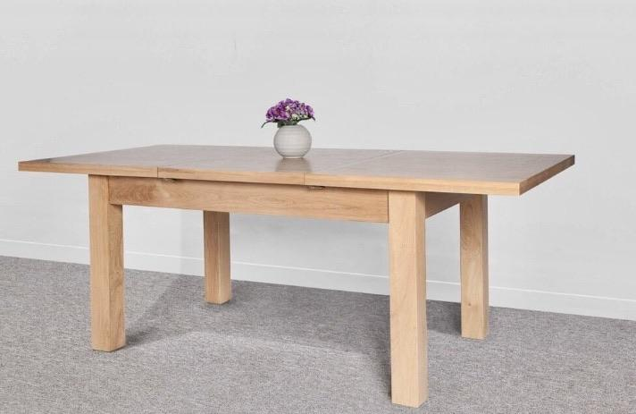 Large Oak Butterfly Extending Dining Table main